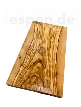 Olive wood olive set of 2 cutting boards turning wood handicrafts 32 x 22/17 x 2.5cm